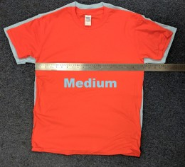 Size Medium Heavy T and Soft-style T Compared.