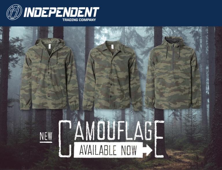Camo in woods